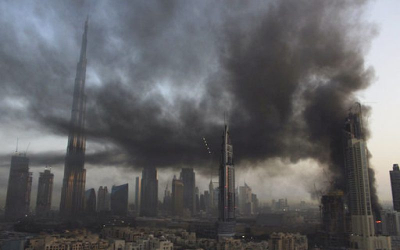 "Breaking fire news: ""Large fire breaks out near world's tallest building in Dubai"""