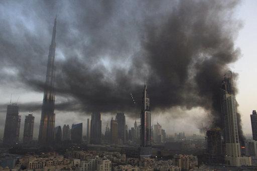 Breaking news: large fire breaks out in Dubai